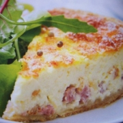 quiche without pastry ham cheese