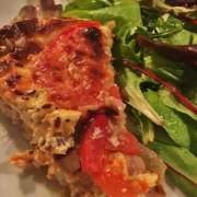 Quiche without dough tuna and tomatoes